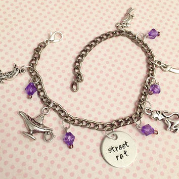 Street Rat Charm Bracelet - Fairytale Jewelry - Once Upon A Time Jewelry - Princess Jewelry - Aladdin Inspired Jewelry