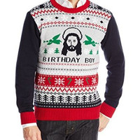 Ugly Christmas Sweater Men's Jesus Bday Sweater