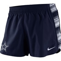Dallas Cowboys Nike Women's Warpspeed Pacer Performance Shorts - Navy Blue