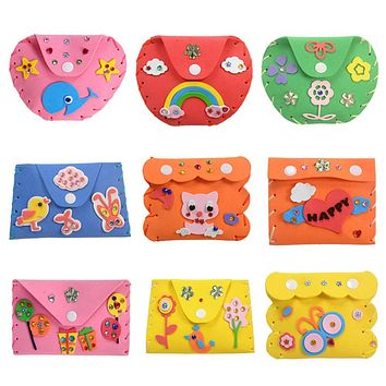 3D EVA Foam Sticker Kids Cartoon Wallet Purse Puzzle Child Craft Toy Kits Children Early Learning Education Toys
