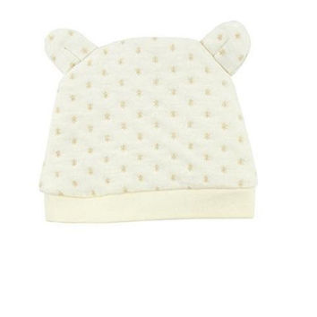 Infant Cap Ear Beanie Beige