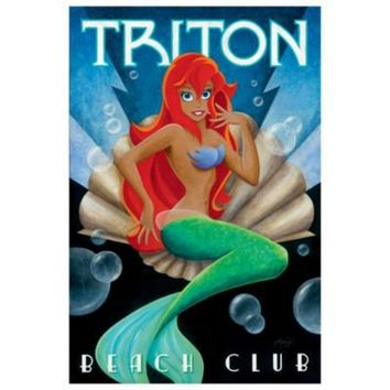 Limited-Edition ''Triton Beach Club'' Ariel Giclée | Pop Art Collection | Disney Store