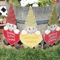 Hand Painted Gnome Outdoor Decoration