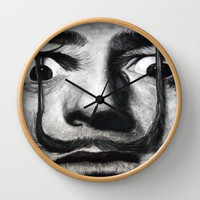 I am drugs ( Salvador Dali ) Wall Clock by ARTEATCHOKE