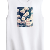 the 1975 Floral Graphic Tank