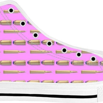 Bullets Shoes White/Pink High Tops