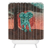 Belle13 Indian Summer With Raccoons Shower Curtain