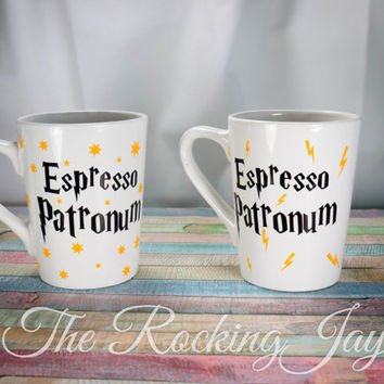 Espresso Patronum, Harry Potter Mug, Harry Potter Cup, Potterhead, 14 ounce