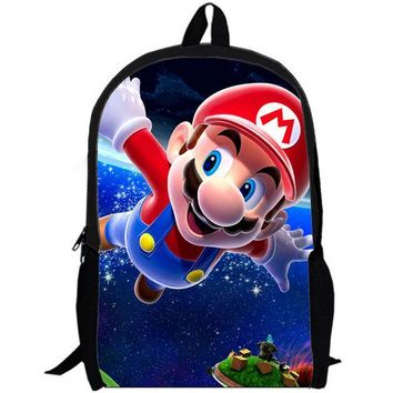 Super Mario party nes switch 16-inch Cartoon Children Backpacks Cartoon  Bag School For Girls Boys Kids Bags Mochilas Infantil Gift AT_80_8