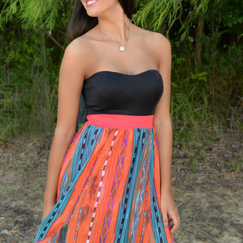 Rain Dancer Strapless Maxi Dress