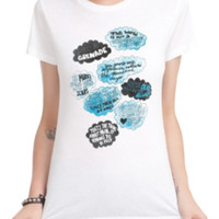 The Fault In Our Stars Cloud Quotes Girls T-Shirt 3XL