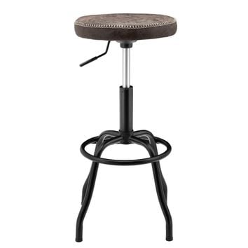 Eaton Gaslift Bar Stool Vintage Coffee Brown