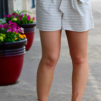 Set Sail Stripe Shorts {L. Grey}