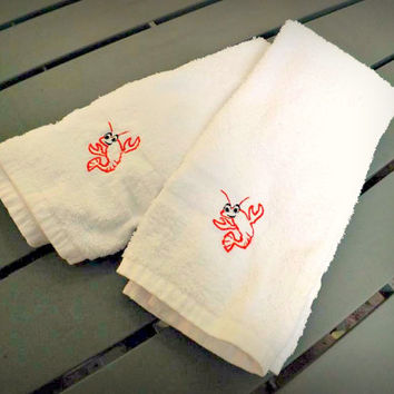 Cajun crayfish Hand Towel Set