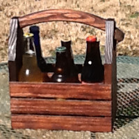 Rustic 6-pack beer bottle carrier 12 oz longnecks wood six pack homebrew microbrew tote new gift wedding groomsman birthday fathers day