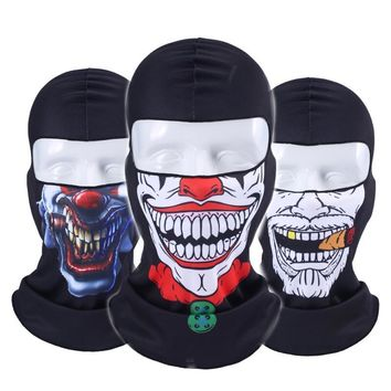 Tactical Skull Mouth Balaclava Outdoor Windproof Breathable Mash Balaclava CS Full Face Mask Helmet Full Face Mask Hats Cap
