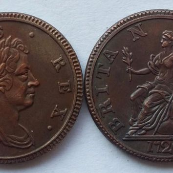 UK,1720,Browsing British Coins of George I,very rare copy coin