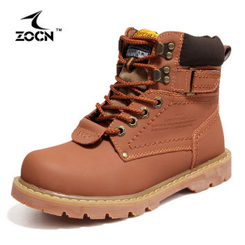ZOCN Couple Shoes Autumn Winter Genuine Leather Boots Women Boots Women Ankle Boots Military Full Fur Snow Boots Lovers