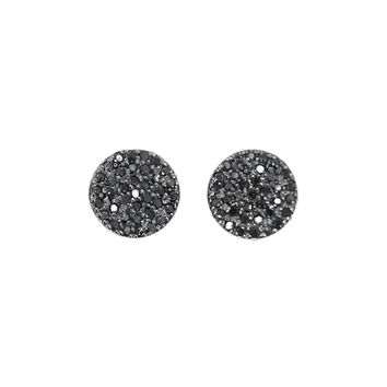Black Diamond Disco Earrings