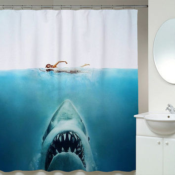 Awesome Shark Jaws Shower Curtains