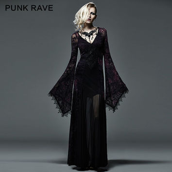 New Gothic Victorian Arwen Long Dress Retro Maxi Vampire Kera Lo 1324b1cd4ea4
