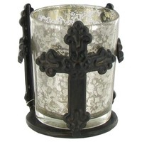 Glass Tea Light Holder with Metal Cross Holder | Shop Hobby Lobby