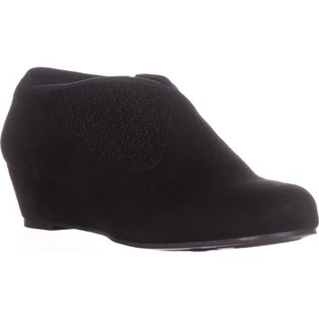Impo Gabriella Wedge Booties, Black, 8.5 US