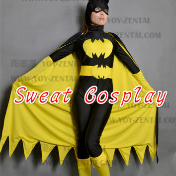 black batman costume women adult batgirl cosplay halloween costumes for women sexy superhero bodysuit zentai mask cape custom