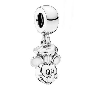 Authentic 925 Sterling Silver Bead Charm Vintage Cute Chef Mickey Mouse Pendant Beads Fit Pandora Bracelet Diy Jewelry