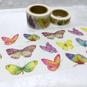 10M x 3cm Butterfly washi tape dancing butterfly sticker tape rare butterfly colorful butterfly collection wide masking tape butterfly decor