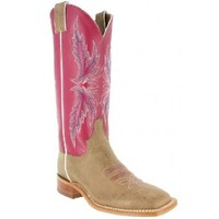 Bent Rail By Justin Cowboy Boots Tan Vintage Cow Ladies Cowboy Boots