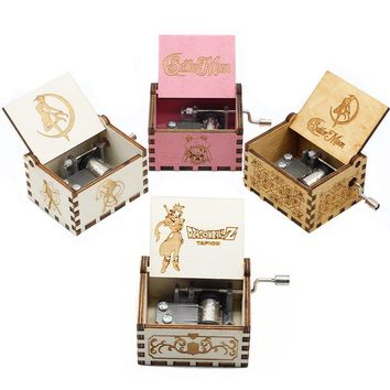 Star Wars Force Episode 1 2 3 4 5 28 Style Music Box Game Of Thrones  Sailor Moon The Godfather Wooden Hand Cranked Theme Music Birthday Gifts AT_72_6