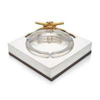 Gucci Nautical ashtray, Silver-plate and brass with figural Cleat | Moda Operandi