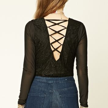 Crisscross-Back Bodysuit