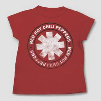 Toddler Boys' Red Hot Chili Peppers Short Sleeve T-Shirt - Red