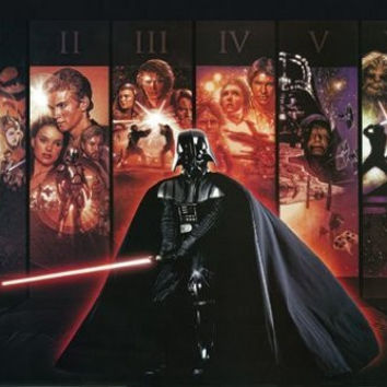 STAR WARS POSTER Amazing Collage RARE HOT NEW 24x36