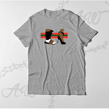 Flip Flops Gucci down to the socks Graphic tee T Shirt Active