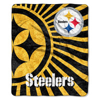 Pittsburgh Steelers NFL Sherpa Throw (Strobe Series) (50in x 60in)