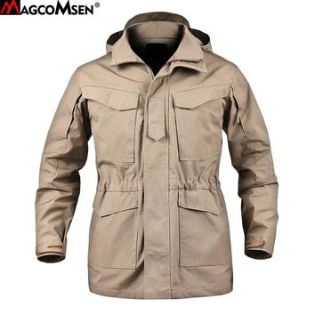 MAGCOMSEN M65 UK US Army Clothes Tactical Windbreaker Men Thermal Flight Coat Male Hooded Military Field Jacket AG-PLY-30