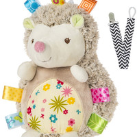 Mary Meyer 40043 Petals Hedgehog Taggies Soft Baby Toy with Pacifier Clip