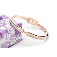 Hermes Woman Fashion Logo Plated Bracelet For Best Gift Tagre™
