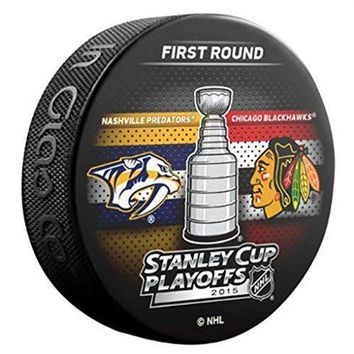 2015 NHL Stanley Cup Playoffs Nashville Predators vs. Chicago Blackhawks Souvenir Dueling Hockey Puck
