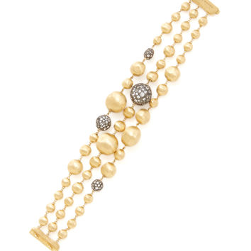 Marco Bicego Women's Africa Pave White Sapphire Accented Station Bracelet