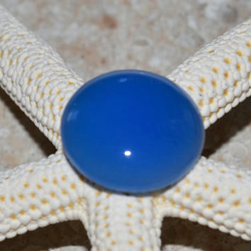 Blue agate, agate cabochon, round cabochon, blue agate cabochon, jewelry supplies, bezel setting, wire wrapping, blue gemstone,natural agate