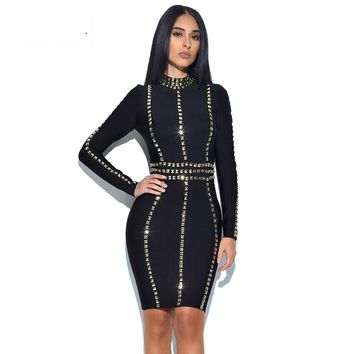 Semayla New Arrival Bandage Dresses Women Sexy Sequined Celebrity Summer Dress Bodycon Runway Party Dress Beading Clubwear