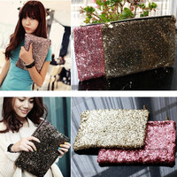 2015 Glitter Sparkling Sequins Dazzling Clutch Women Lady Evening Party Bag Handbag Bling Purse Women Fashion Bag = 1946664516