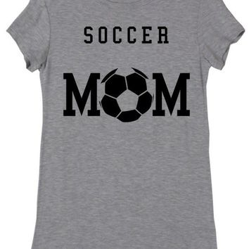 Soccer Mom Heather Grey Short Sleeve Top
