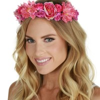 Pink Flower Child Crown