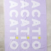 Ban.do Vacation Beach Towel in Lavender Size: One Size Bath