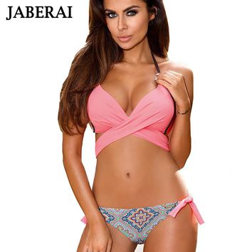 JABERAI Sexy Bikini 2017 Women Swimsuit Push Up Swimwear Criss Cross Bandage Bikini Set  Bathing Suit Maillot De Bain